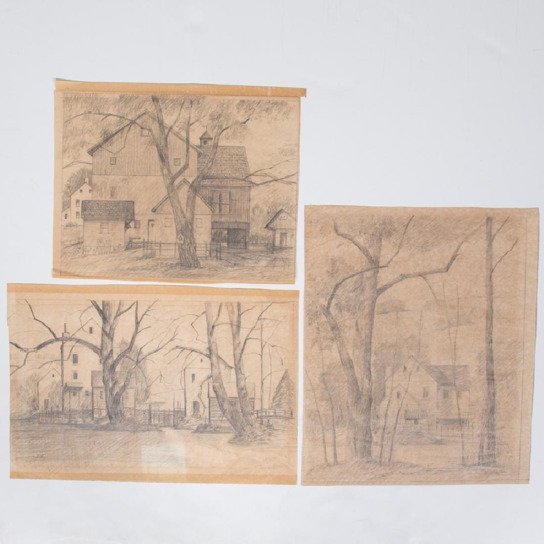 Paul Riba (1912-1977) A Group of Three Landscape