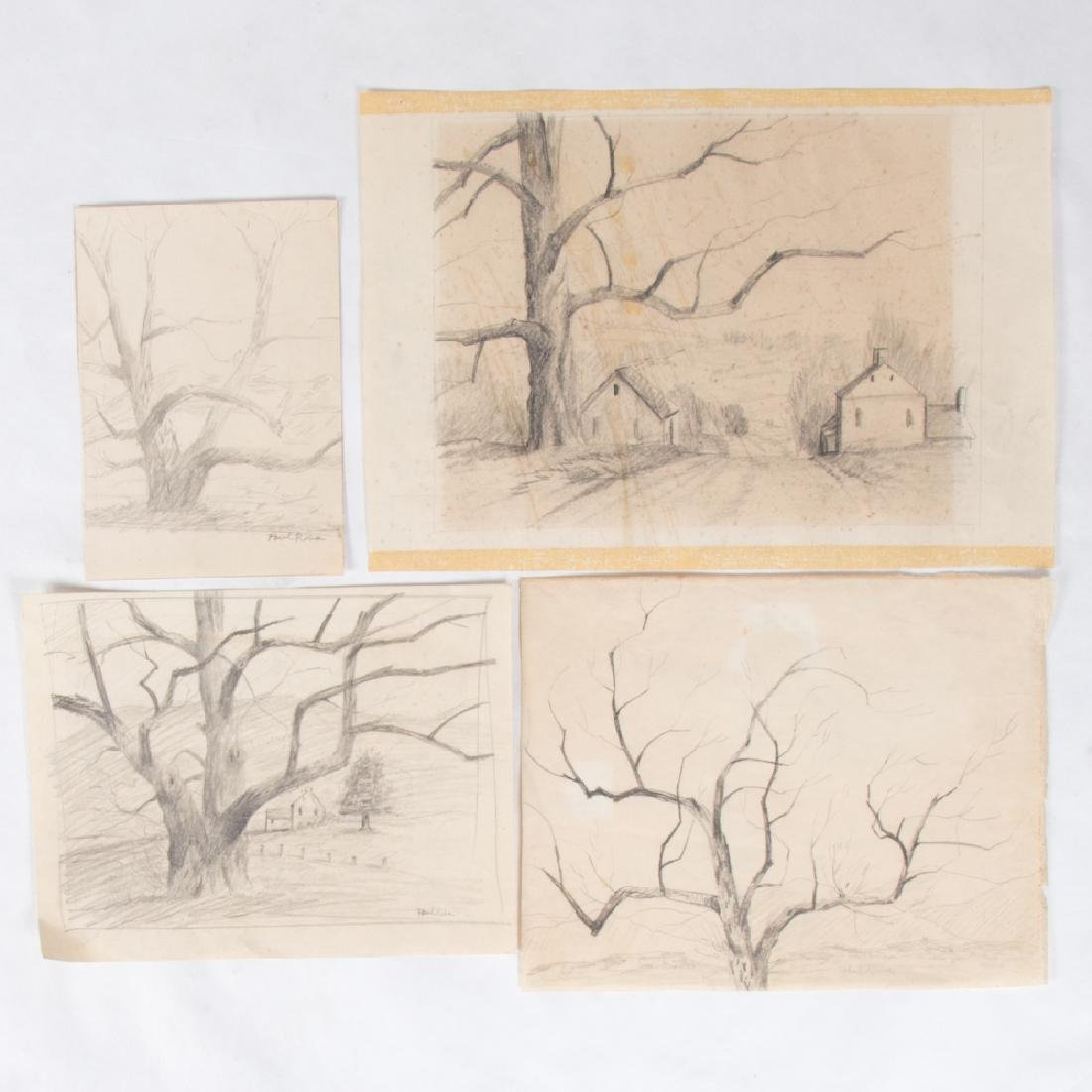 Paul Riba (1912-1977) A Group of Four Studies, Pencil