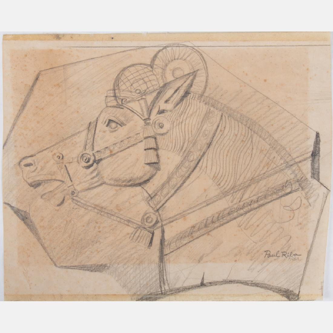 Paul Riba (1912-1977) A Group of Four Studies, Pencil - 2