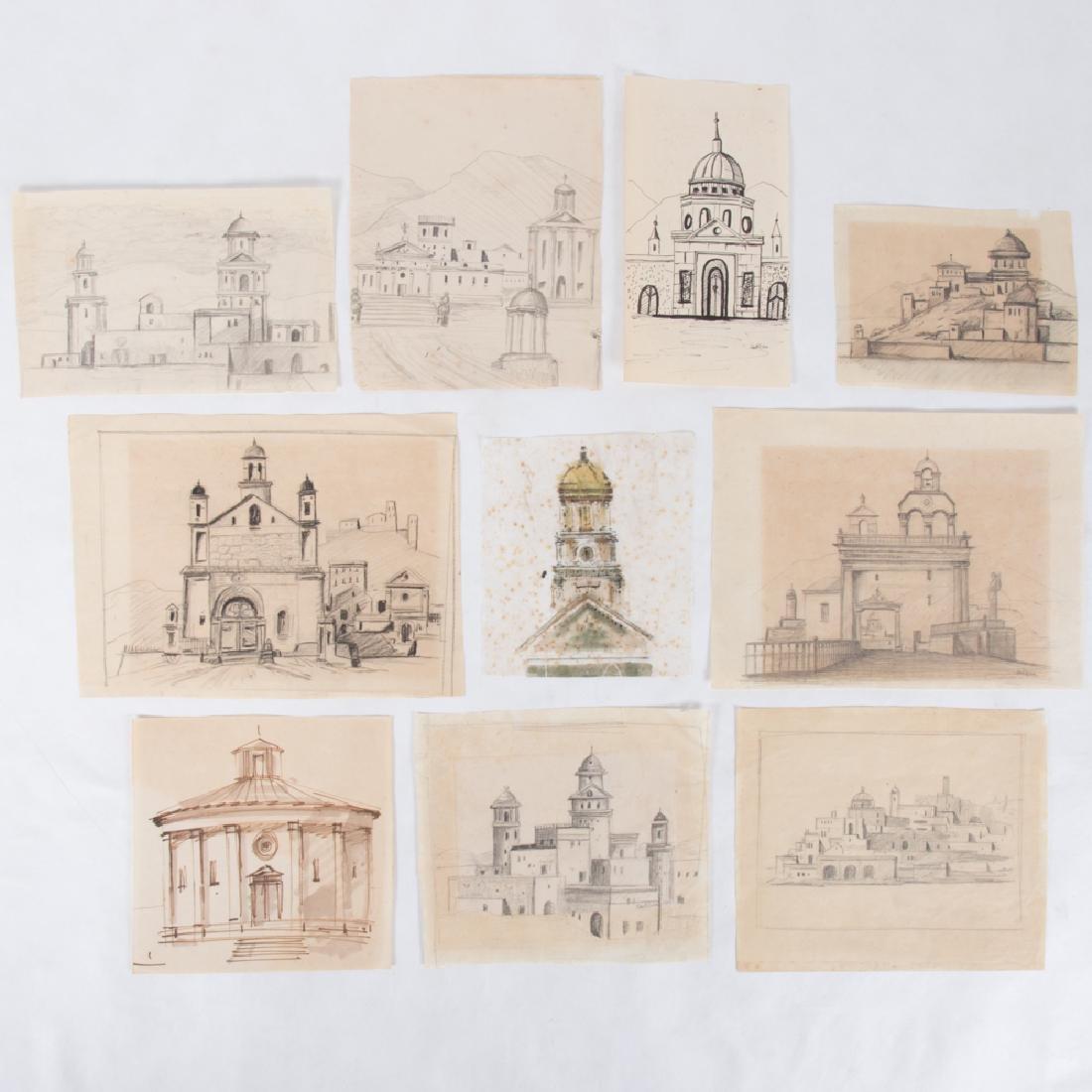 Paul Riba (1912-1977) A Group of Ten Studies, Pencil on