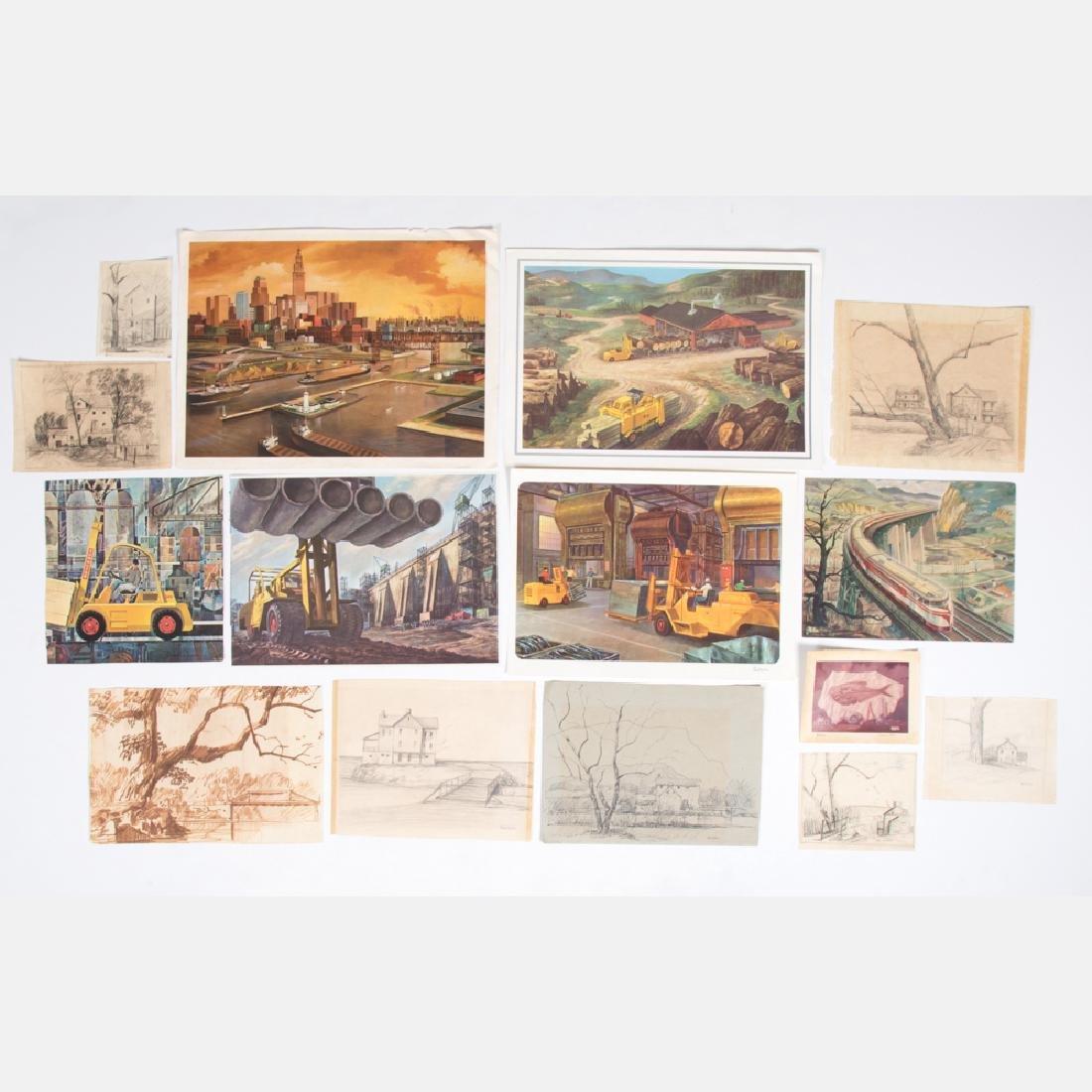 Paul Riba (1912-1977) A Group of Eight Studies, Pencil