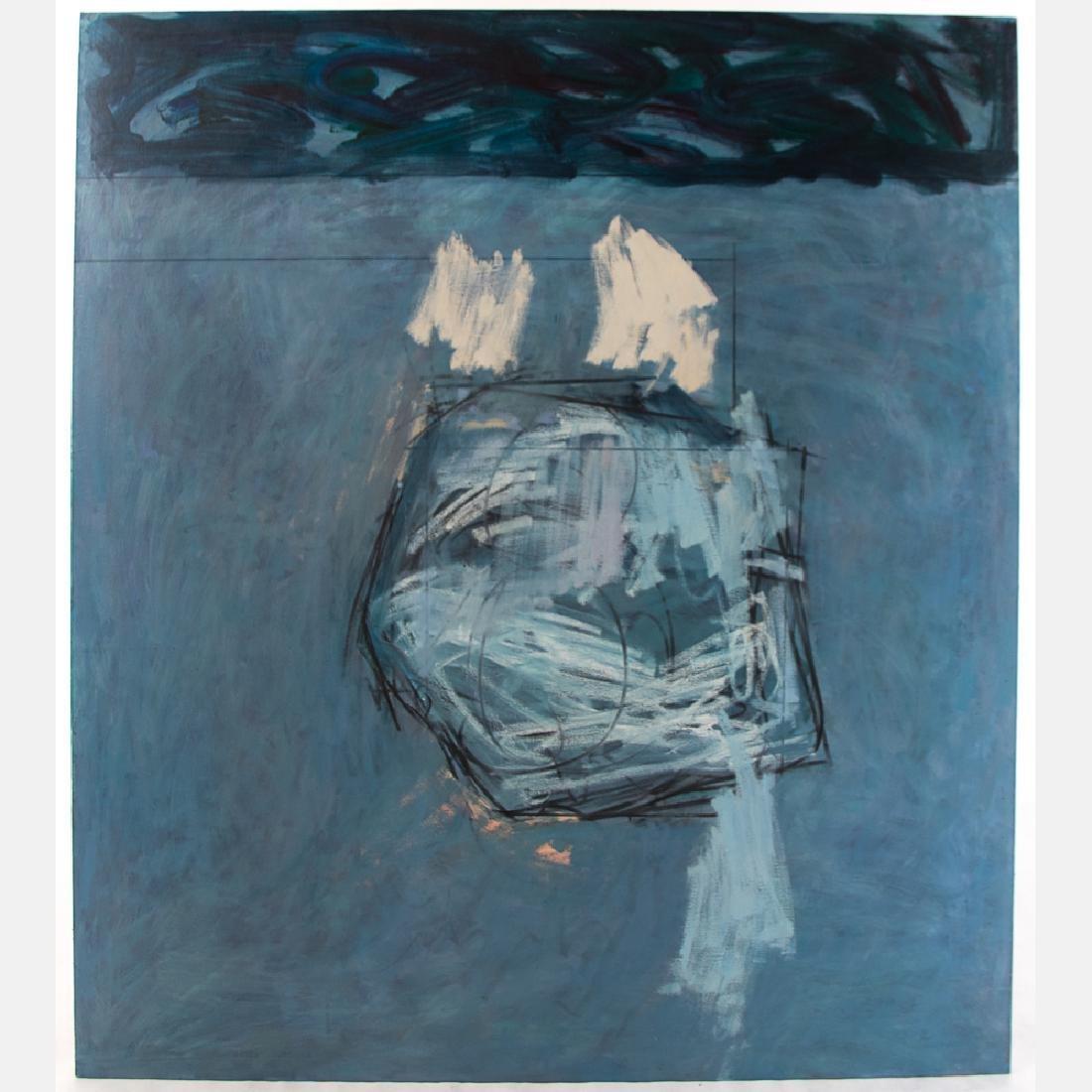 Al Newbill (1921-2012) Moon Rock #2, Oil on canvas,