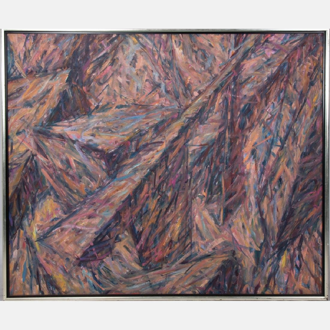 Ruth Bercaw (20th Century) Untitled (Diptych), Oil on
