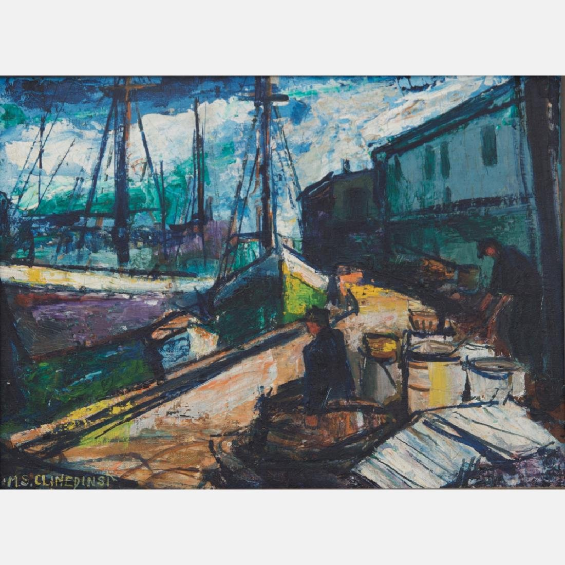 May Spear Clinedinst (1887-1960) Harbor Scene with - 2