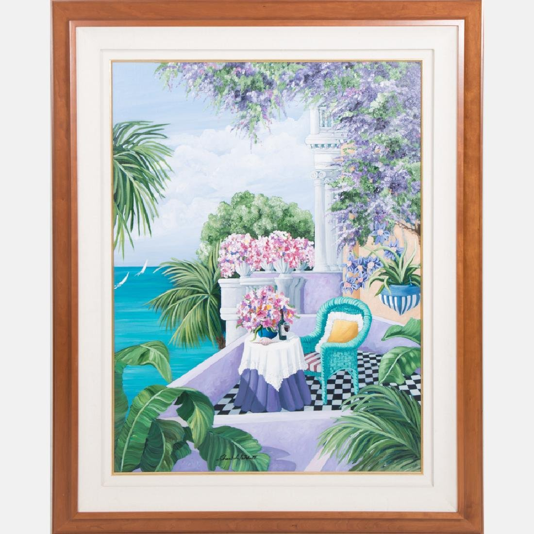 Sharie Hatchett Bohlmann (20th Century) Tropical Scene,