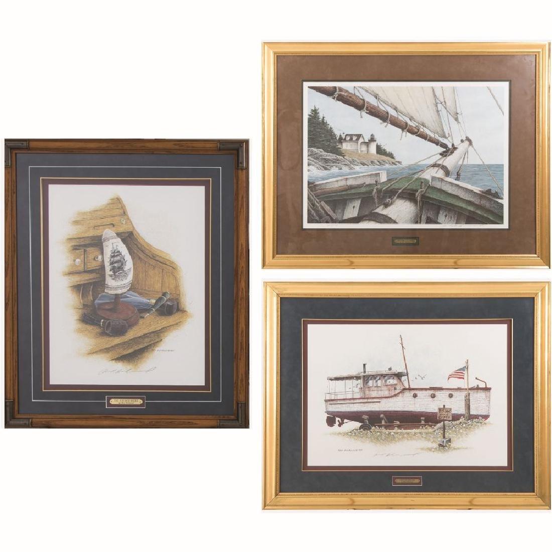 Ben Richmond (20th Century) Three Framed Works,