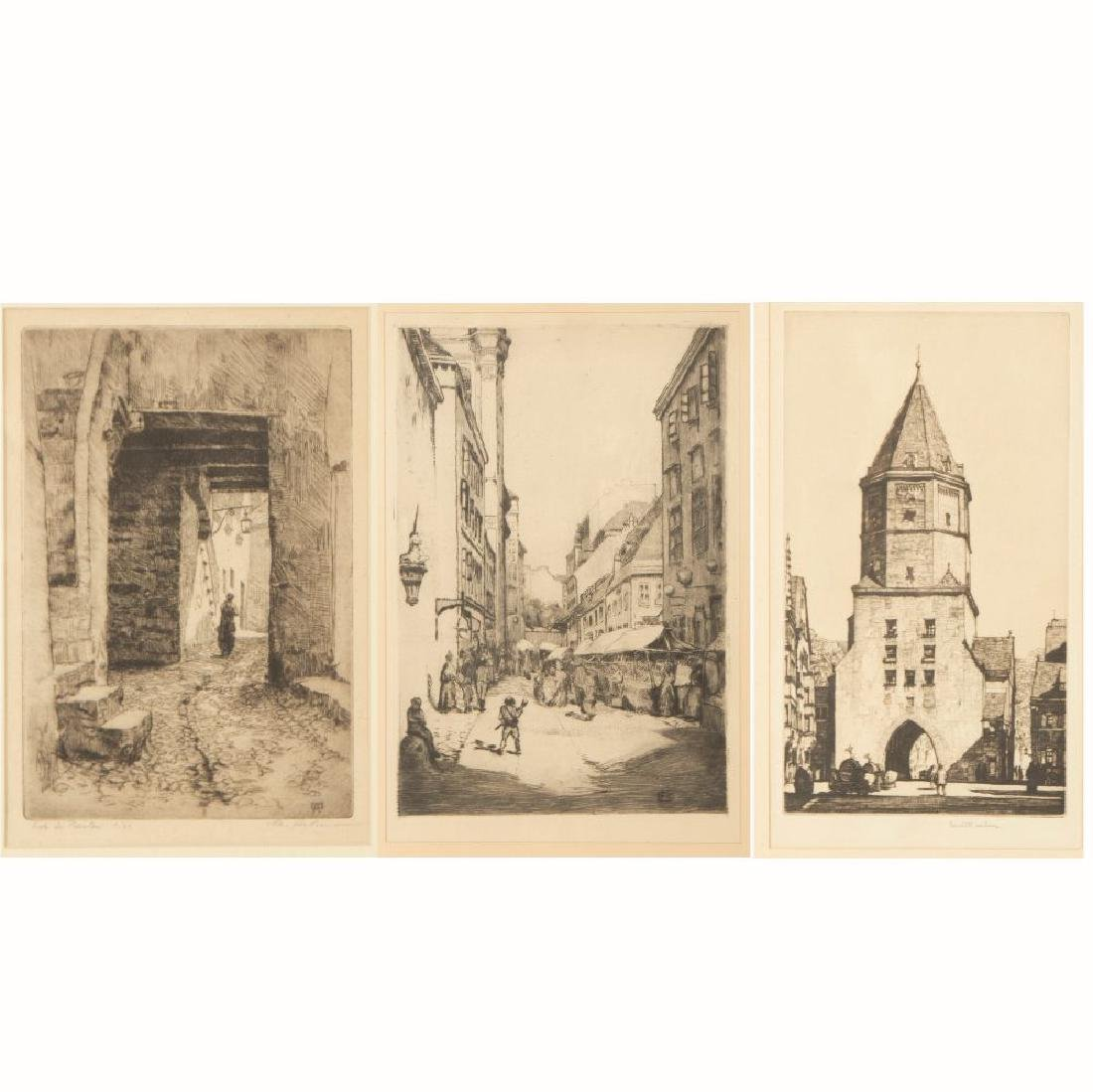 A Group of Three Etchings by Various Artists, 19th/20th