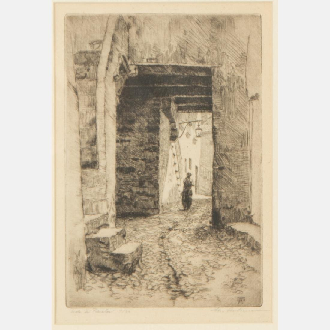 A Group of Three Etchings by Various Artists, 19th/20th - 2