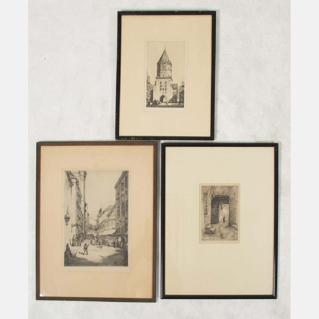 A Group of Three Etchings by Various Artists, 19th/20th - 4