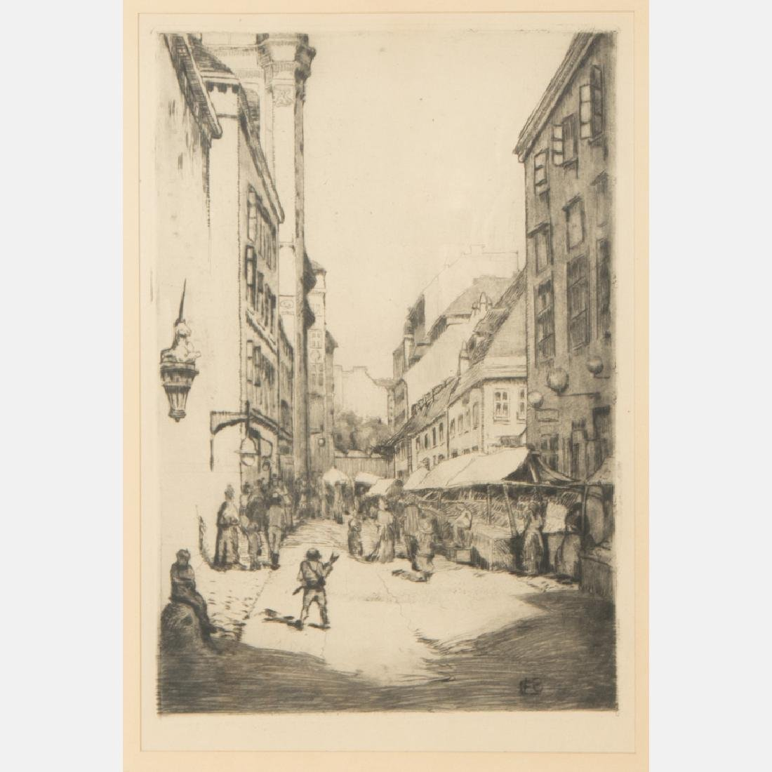 A Group of Three Etchings by Various Artists, 19th/20th - 8