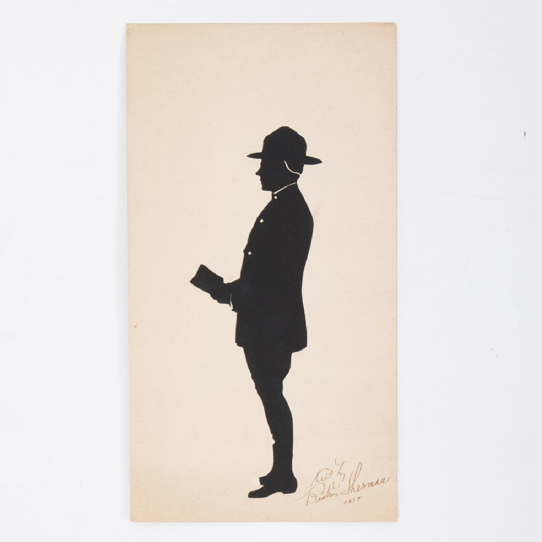 A Cut Paper Silhouette Depicting a Solider by Beatrix