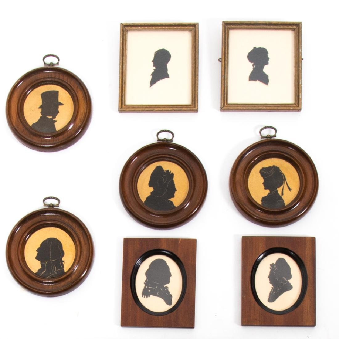 A Collection of Eight Cut Paper Silhouettes, 19th/20th