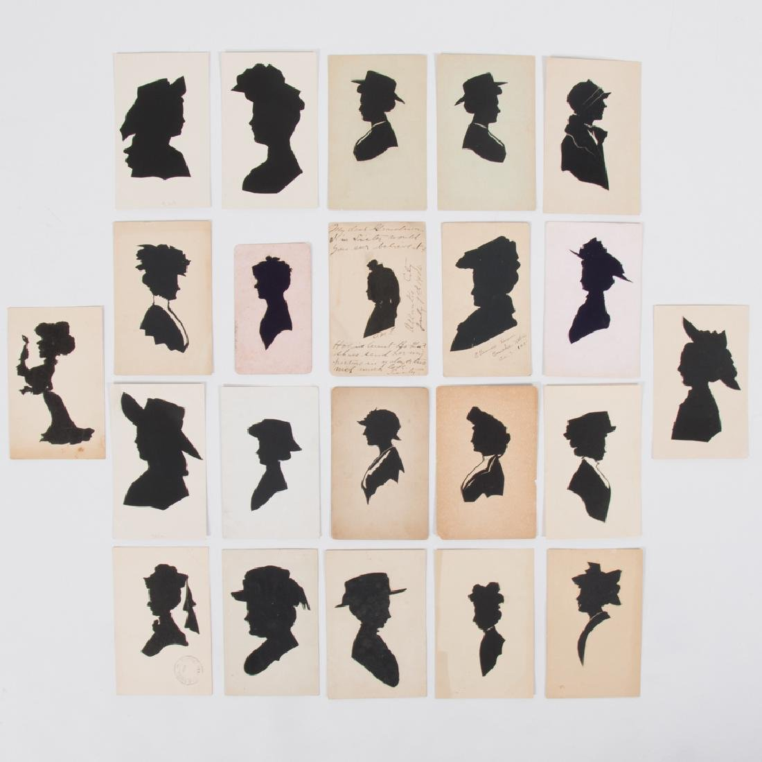 A Collection of Twenty-Two Cut Paper and Ink