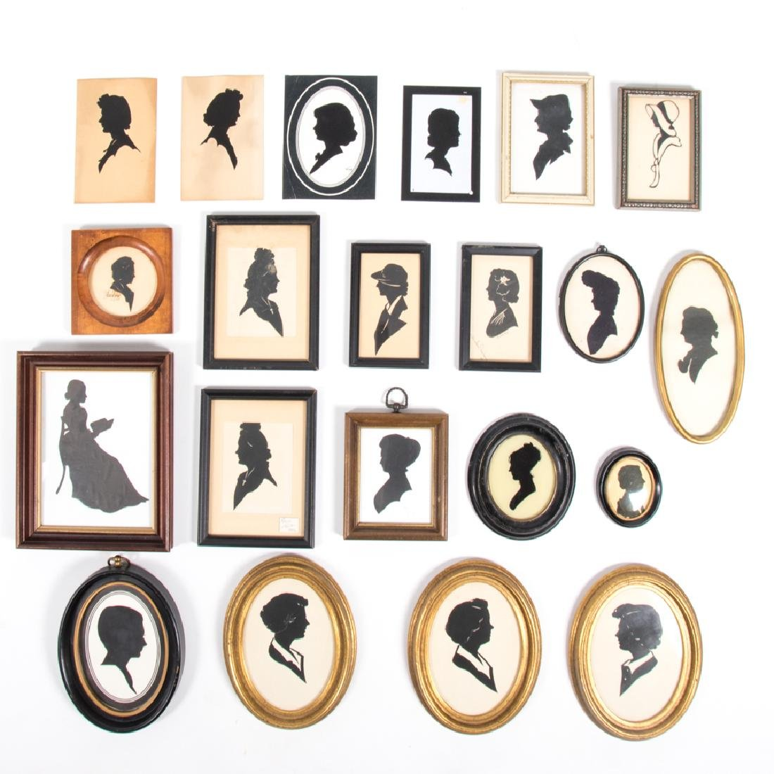 A Collection of Twenty-One Cut Paper and Reverse