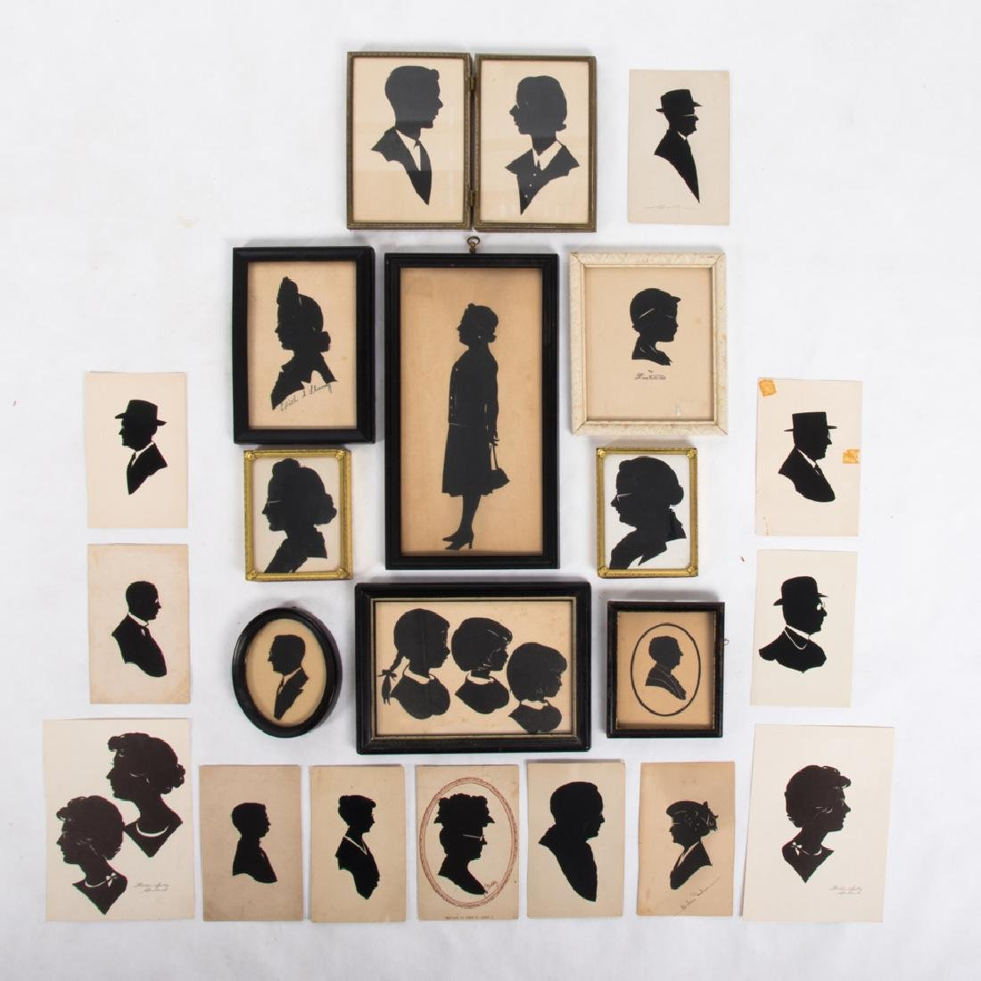 A Collection of Twenty-Two Cut Paper Silhouettes