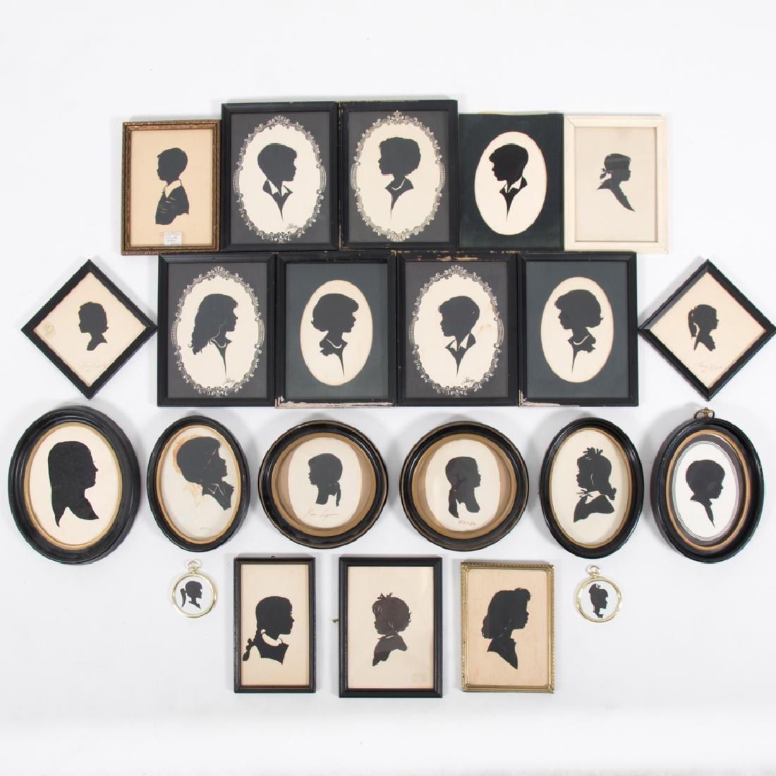 A Collection of Twenty-Two Cut Paper Silhouettes by