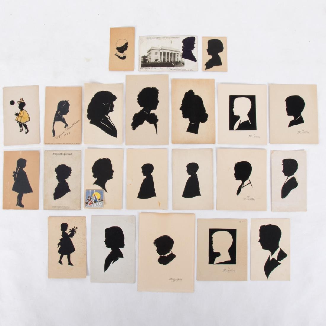 A Collection of Twenty-One Cut Paper and Ink