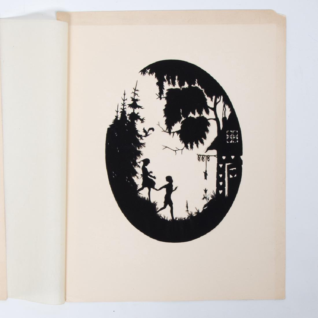 A Collection of Three Cut Paper Silhouettes Depicting - 2