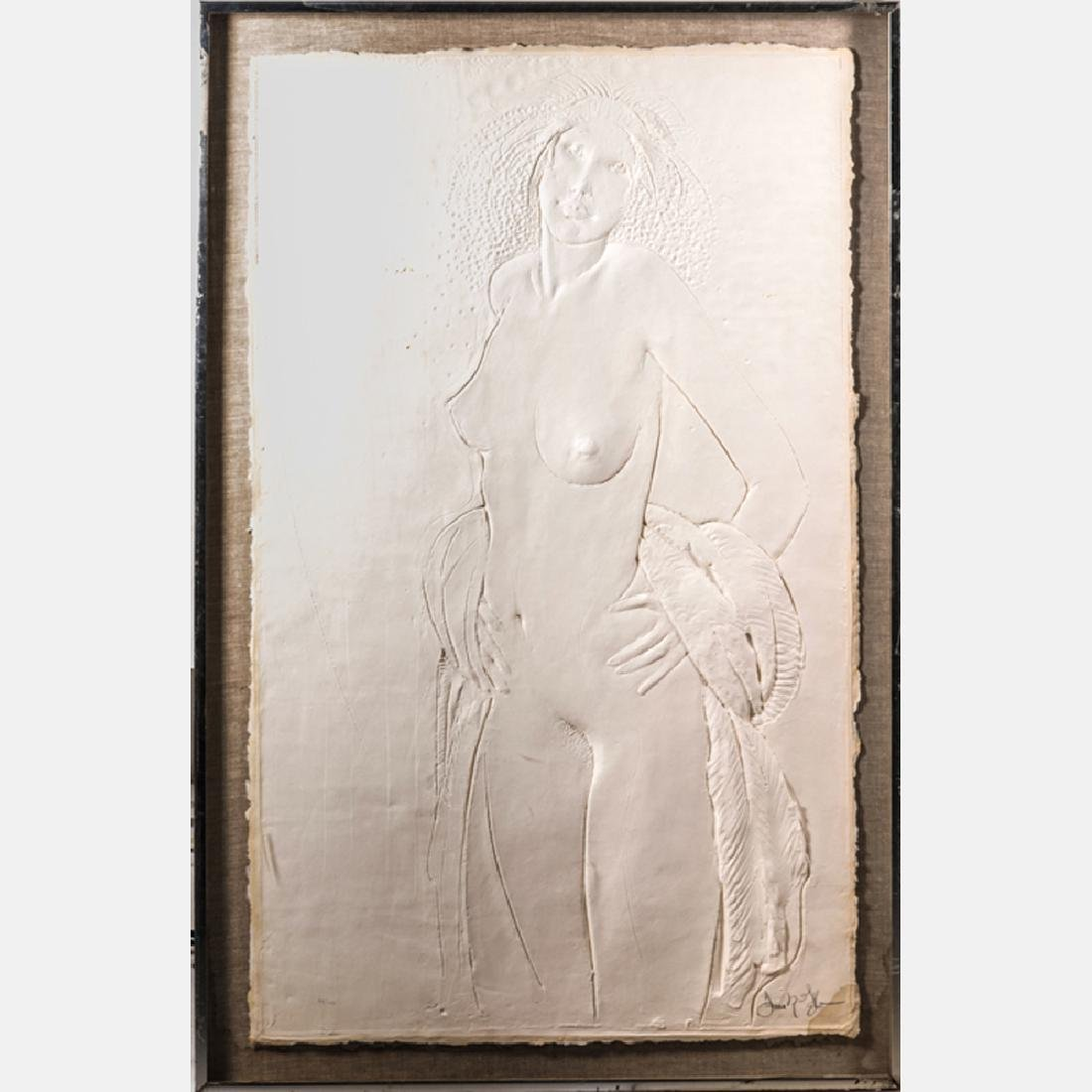 Frank Gallo (b. 1933) Dancer, Embossed paper relief