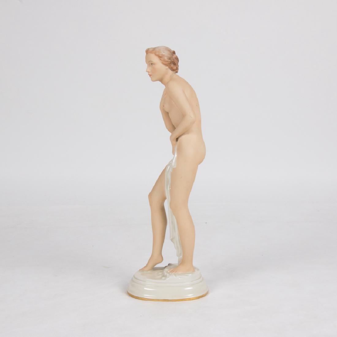 A Pirkenhammer Porcelain Female Nude Figurine, 20th - 2
