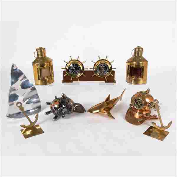 A Miscellaneous Collection of Brass and Copper Nautical