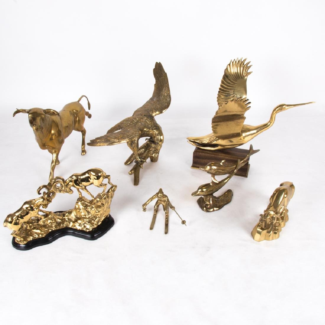 A Miscellaneous Collection of Brass Animal Form