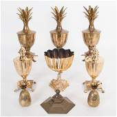 A Miscellaneous Collection of Brass Urn Decorative