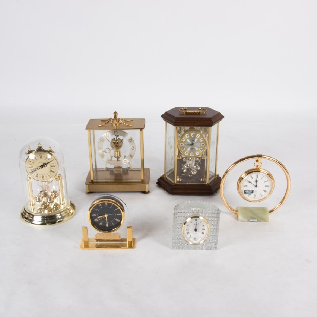 A Miscellaneous Collection of Six Mantle and Desk Clock