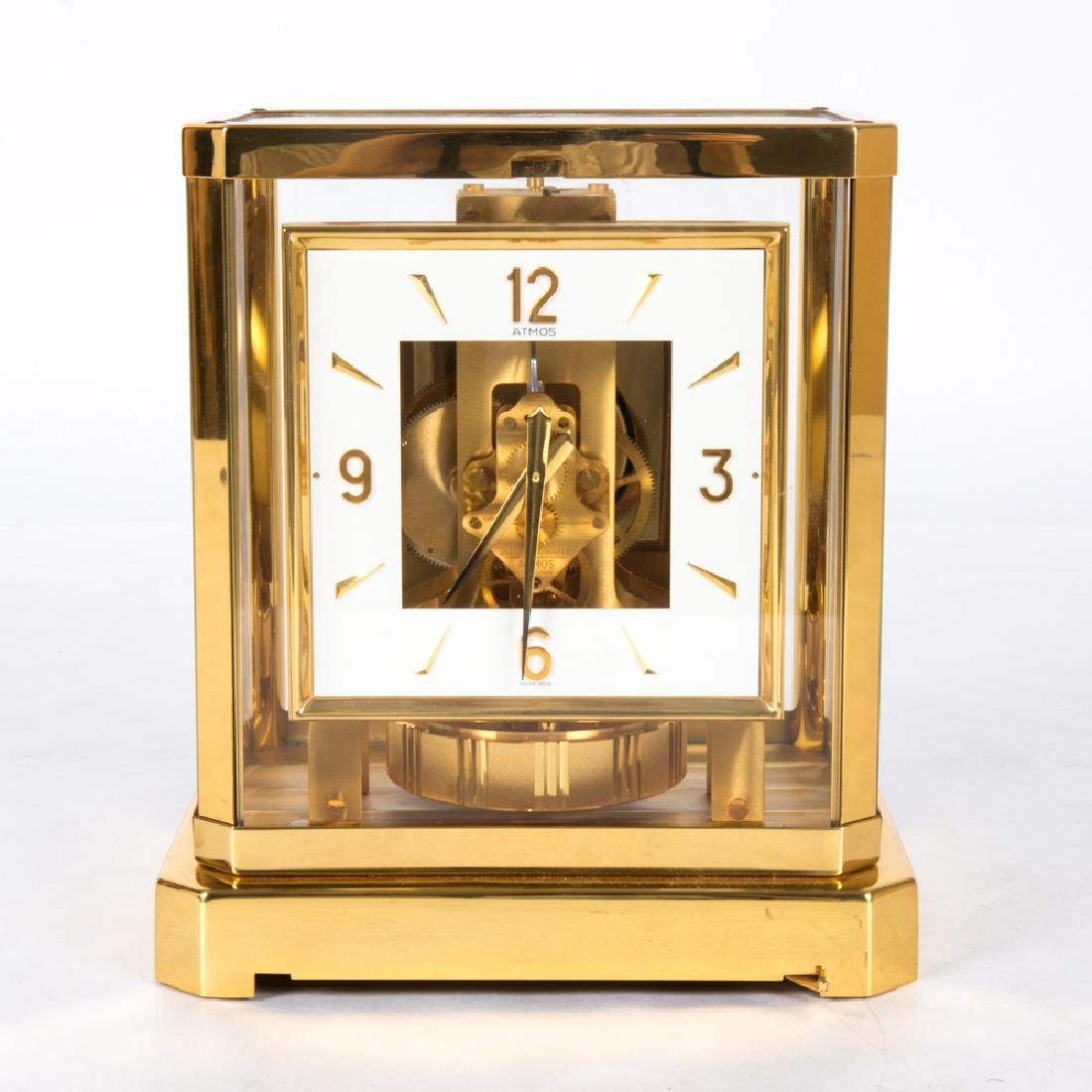 A Jaeger-LeCoultre Atmos Swiss Made Brass and Glass