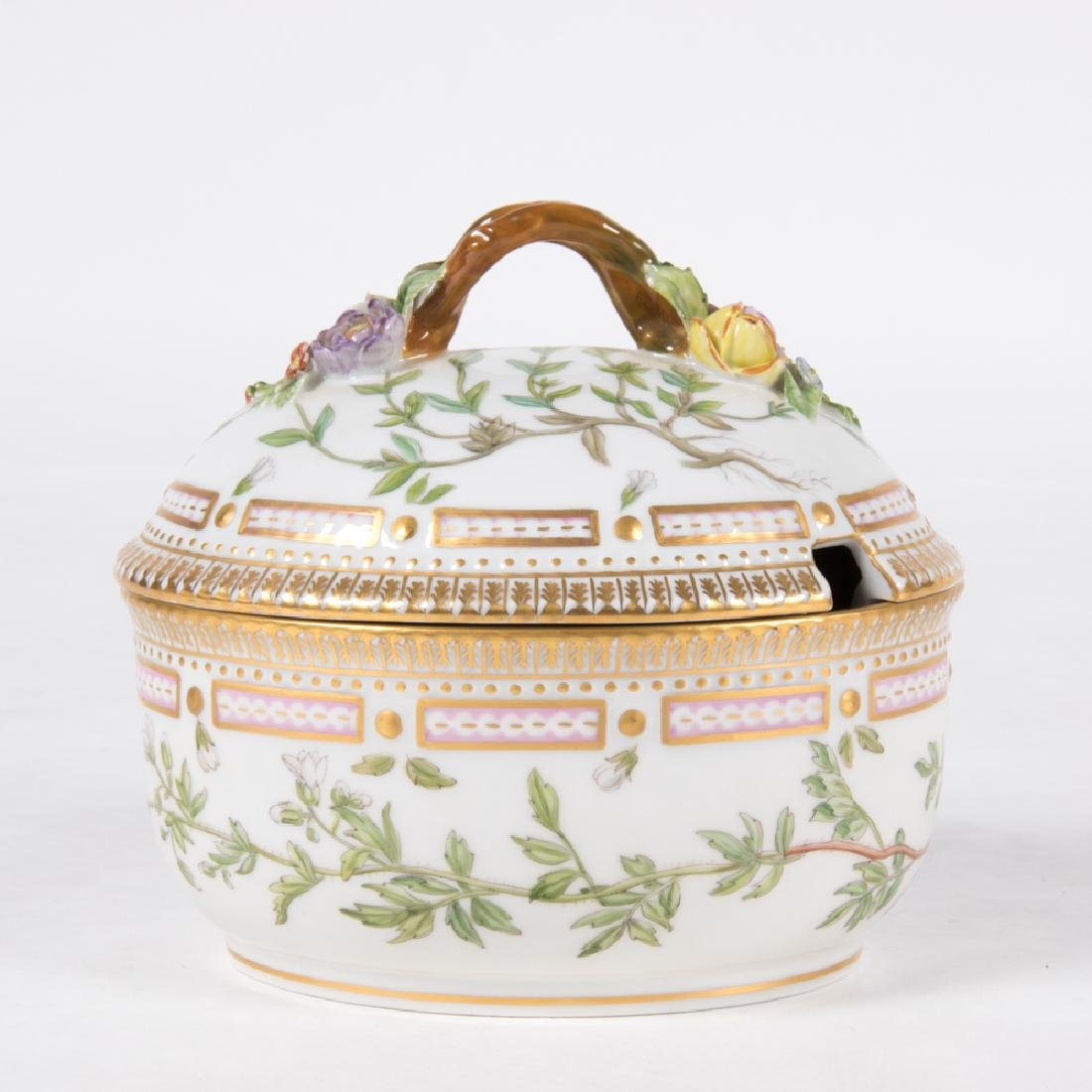 A Small Royal Copenhagen Porcelain Tureen in the Flora