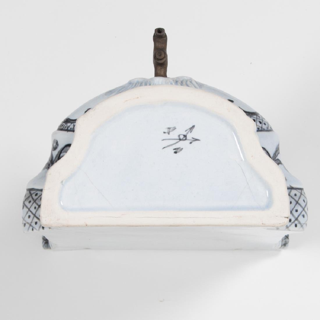A Continental Porcelain Wall Hanging Lavabo mounted on - 3