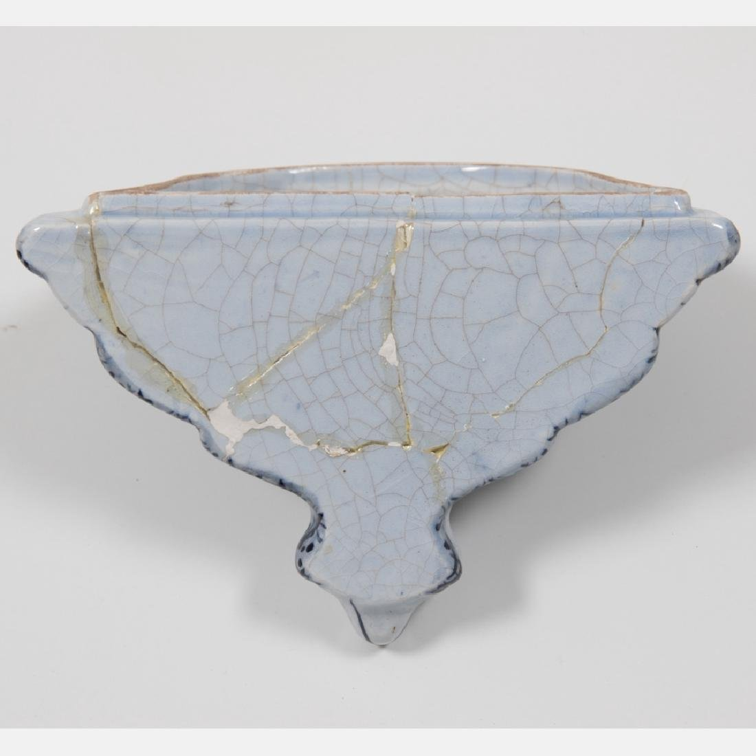 A Continental Porcelain Wall Hanging Lavabo mounted on - 5