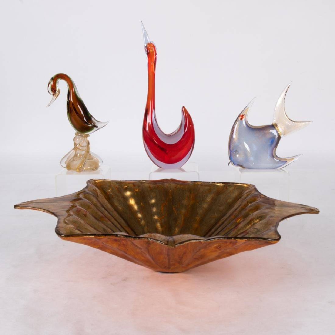 A Miscellaneous Collection of Murano Glass Decorative