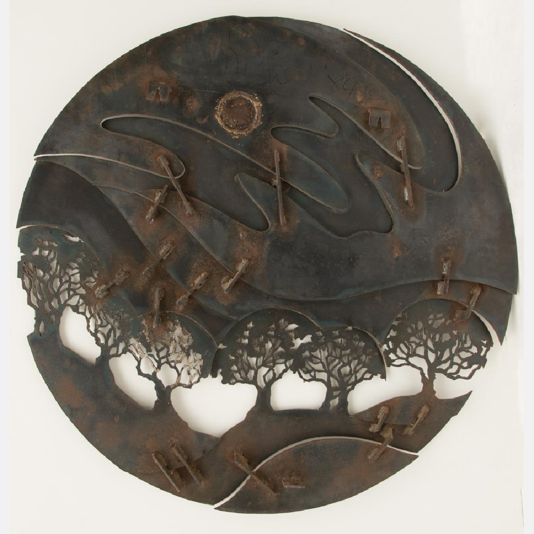 John Richen (20th Century) Untitled, Cut metal wall - 3