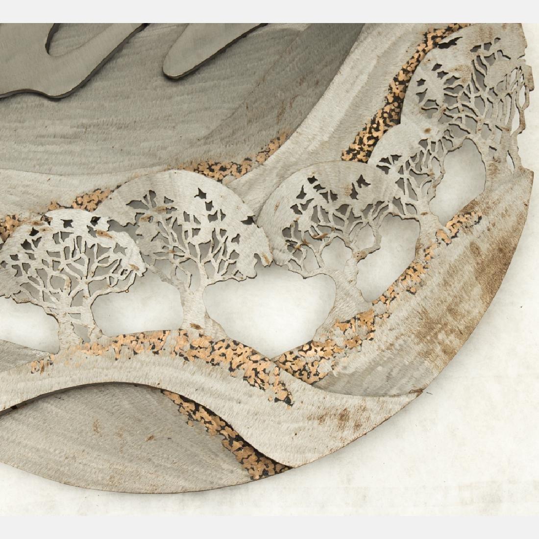 John Richen (20th Century) Untitled, Cut metal wall - 5