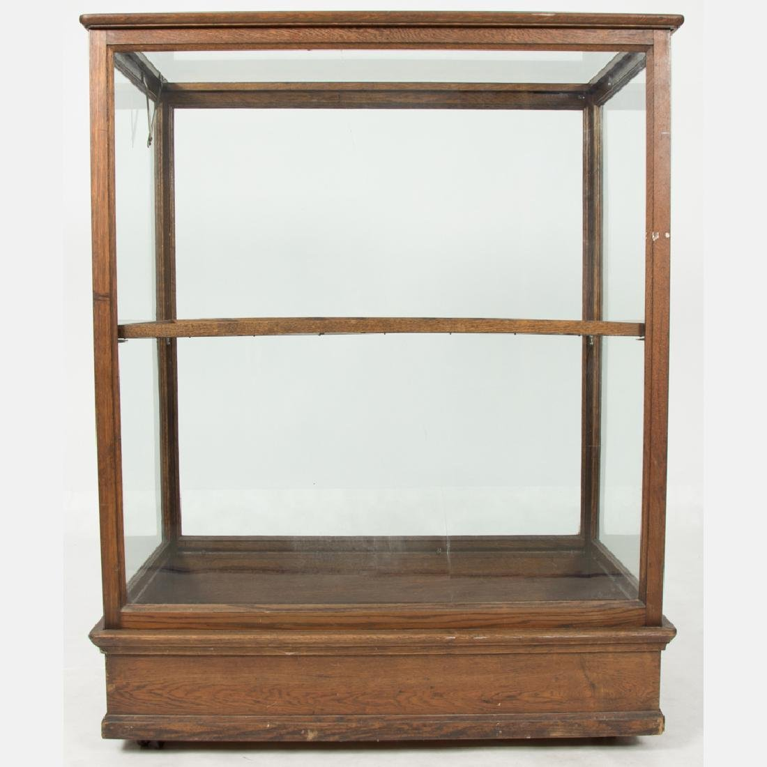 An American Oak and Glass Cane Display Case, 19th