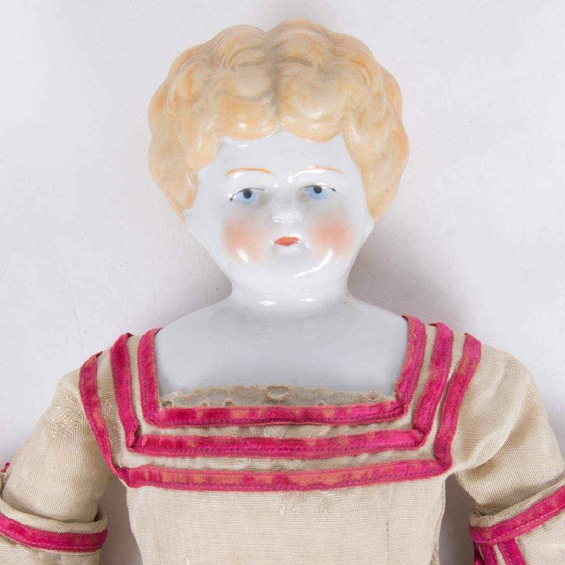 A German Bisque Porcelain Doll with Painted Face, - 2