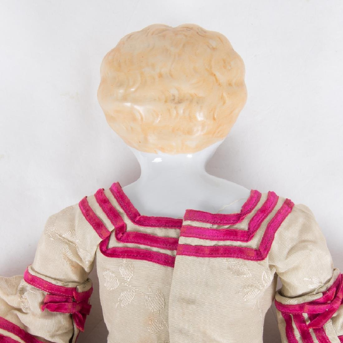 A German Bisque Porcelain Doll with Painted Face, - 4