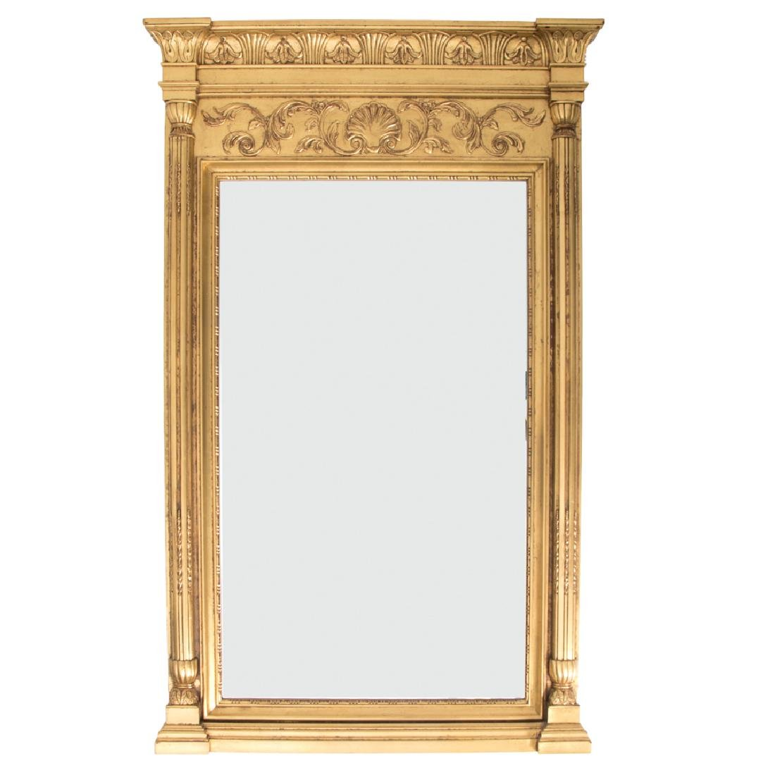A Pair of Neoclassical Style Gilt Framed Beveled - 2