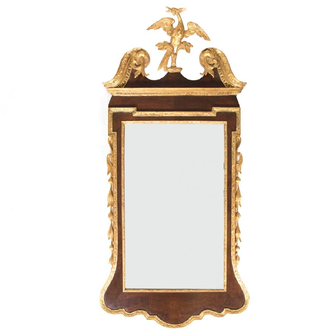 A Chippendale Style Gilt Framed Bevel Mirror, 20th