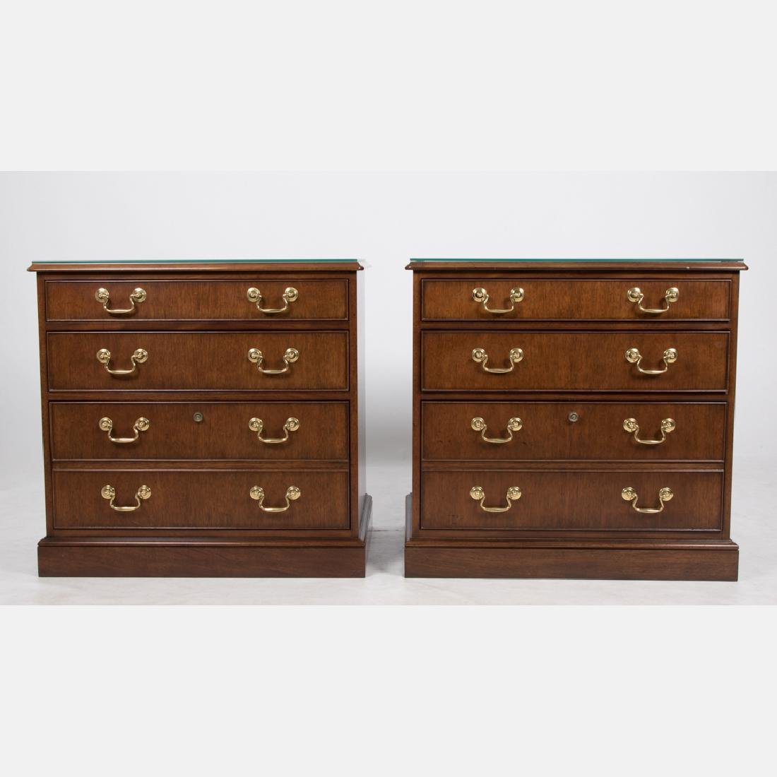 A Pair of Baker Furniture Georgian Style Walnut and