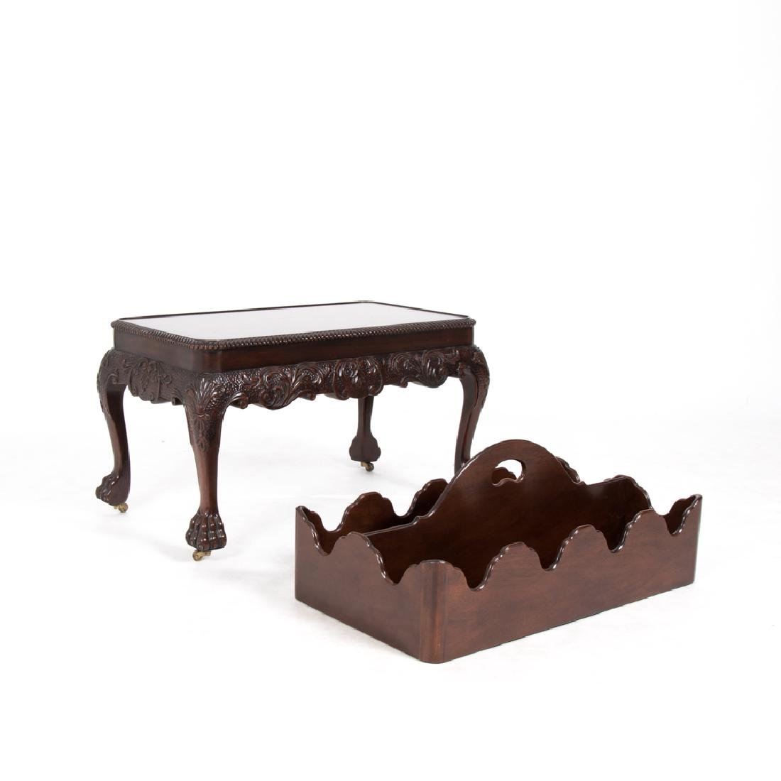 A Baker Furniture Georgian Style Carved Mahogany - 3