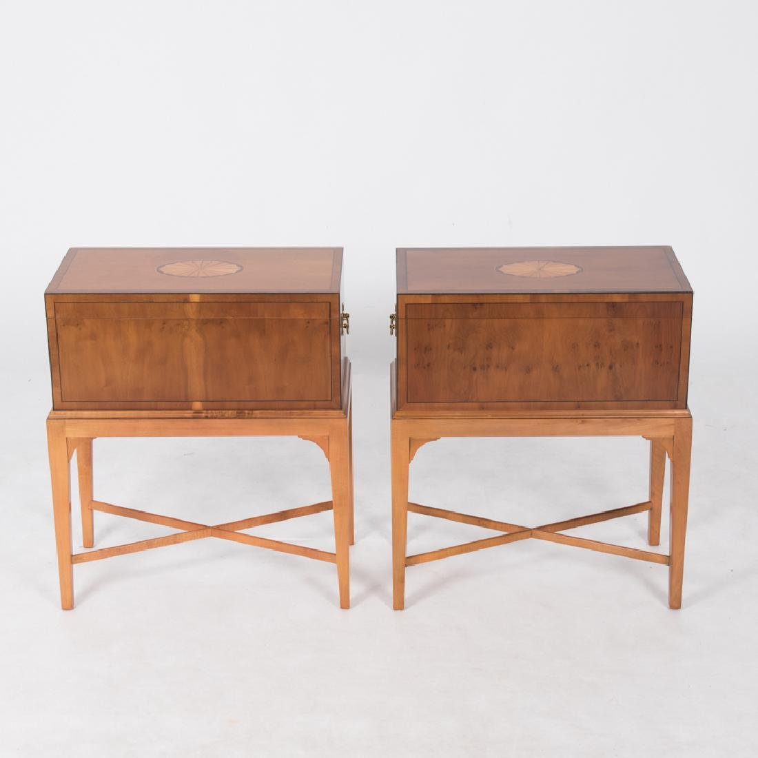 A Pair of Baker Furniture Georgian Style Fruitwood