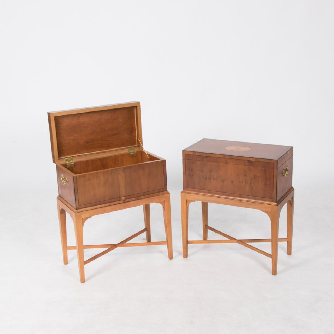 A Pair of Baker Furniture Georgian Style Fruitwood - 2