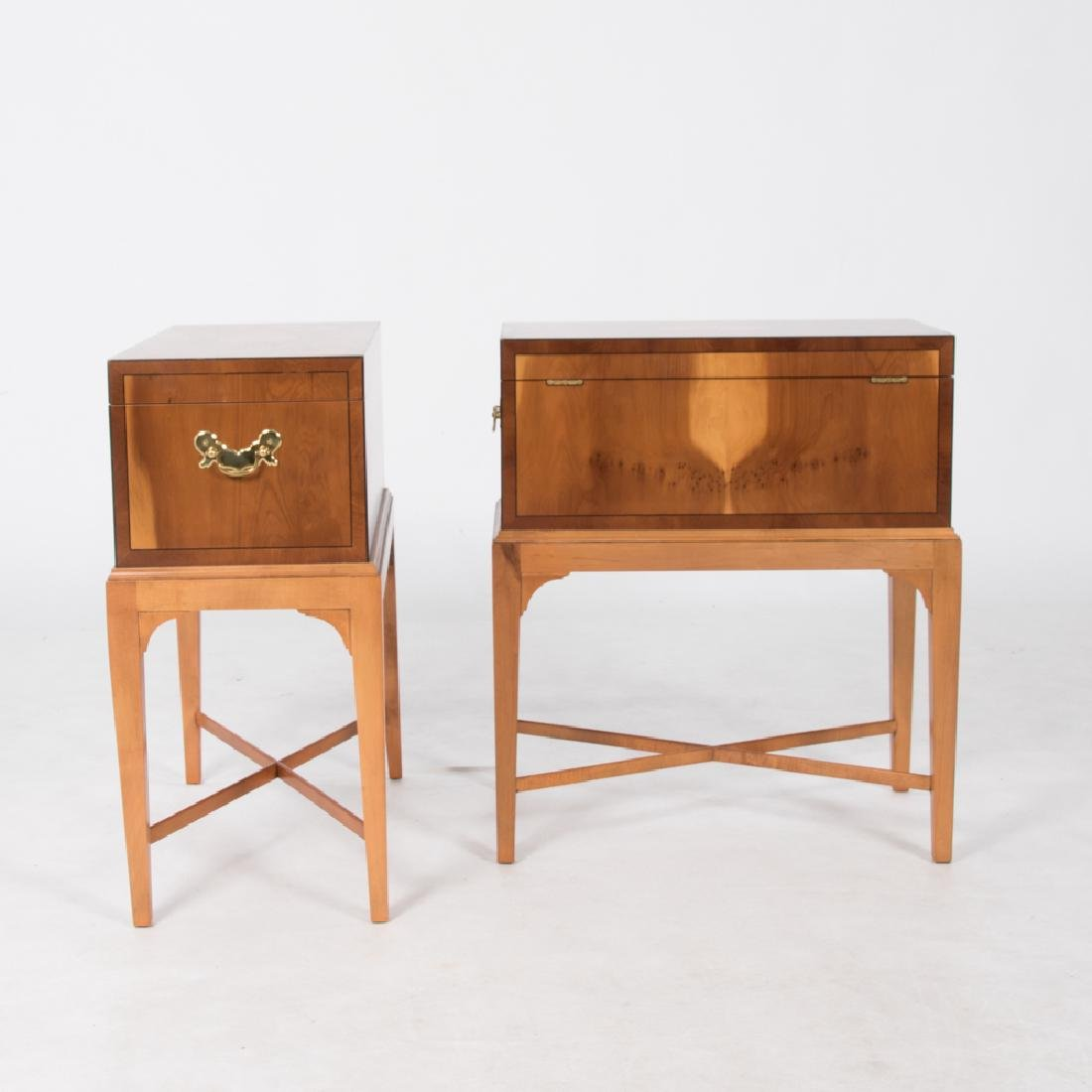 A Pair of Baker Furniture Georgian Style Fruitwood - 6