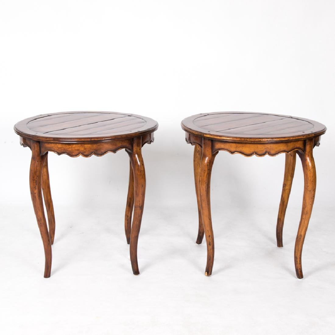 A Pair of French Provincial Style Stained Walnut