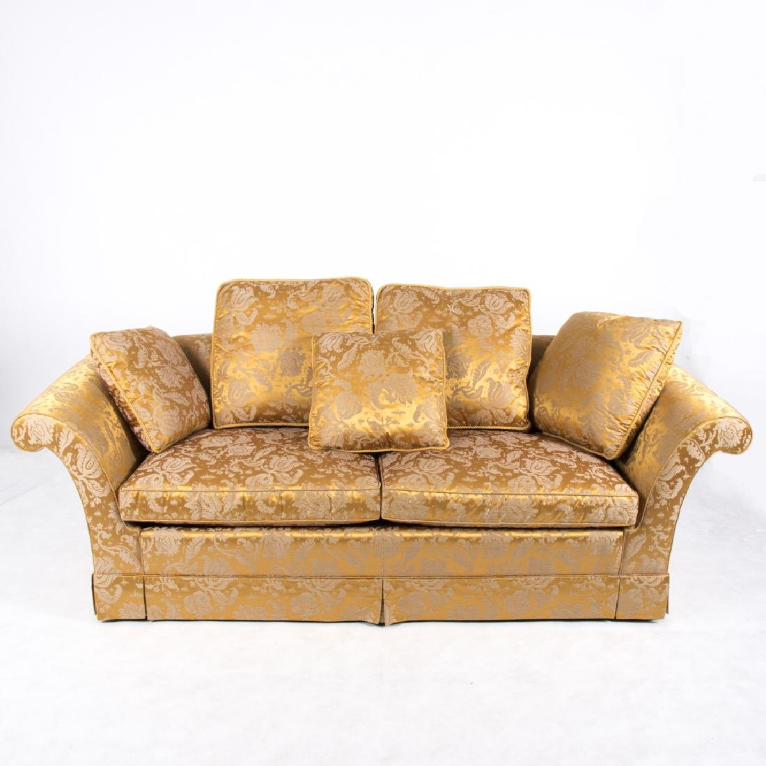 A Baker Furniture Silk and Cotton Carlyle Damask