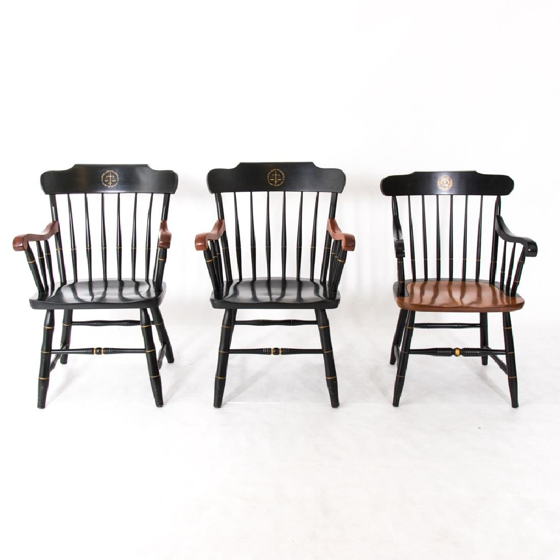 A Group of Three Hitchcock Style Painted Hardwood