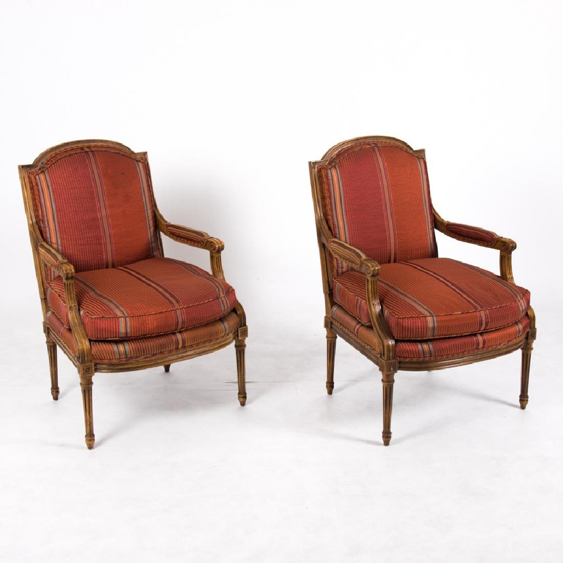 A Pair of Baker Furniture Louis XVI Style Stained