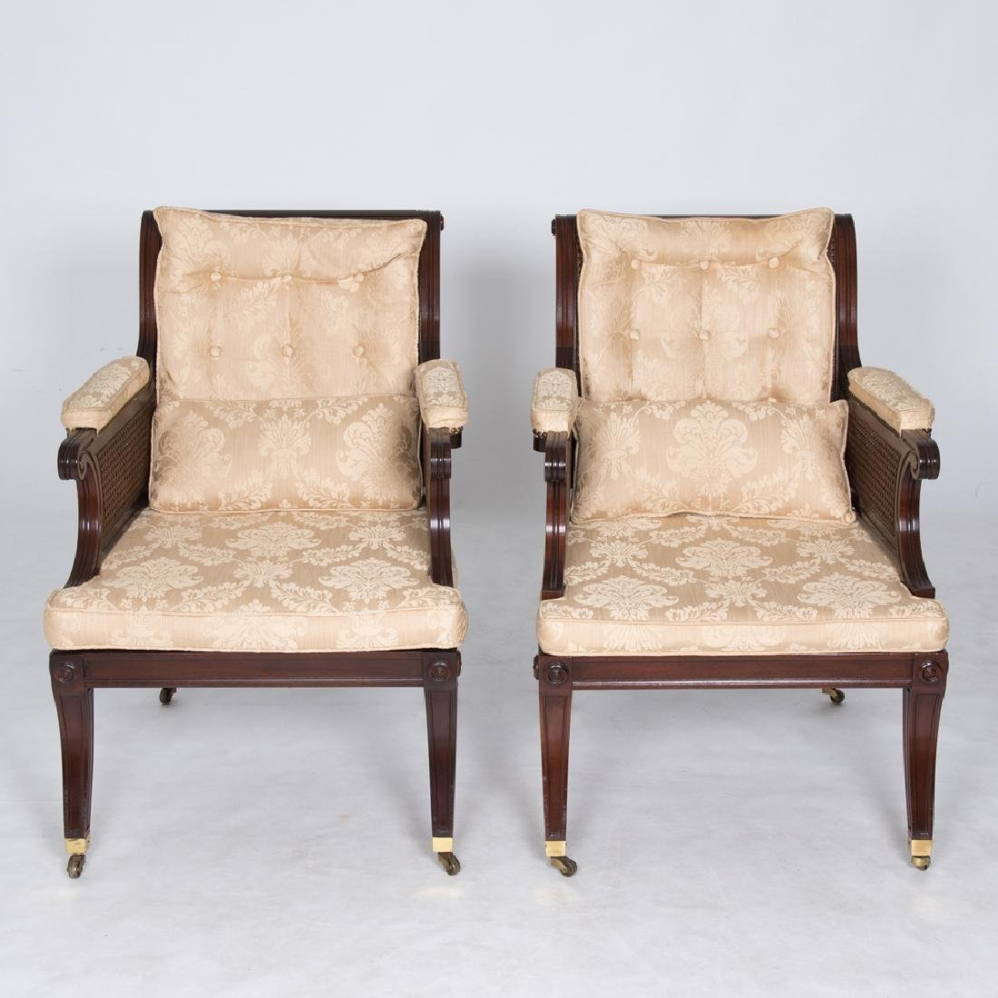 A Pair of Baker Furniture Georgian Style Mahogany and